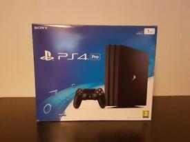 Brand New Sony PlayStation 4 PS4 Pro 1TB Jet Black Console