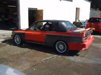 1990 BMW 325I CABRIOLET CONVERTIBLE BIG SPEC M3 STEEL WIDE WINGS HUGE POTENTIAL CAN DELIVER LOCALLY