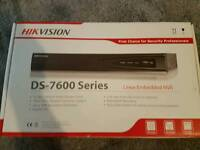 Hikvision cctv nvr 7604 with hard drive