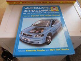 VAUXHALL / OPEL ASTRA & ZAFIRA HAYNES MANUAL
