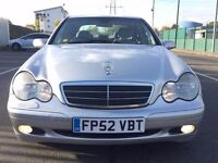 2003 MERCEDES C CLASS C180 KOMPRESSOR - LOVELY CAR - SALOON PETROL WITH LEATHER - AUTO AUTOMATIC
