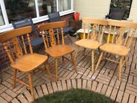 4x fiddle back chairs (ideal project)
