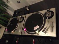 2 x Technics SL1200Mk2 SL1200 Mk2 DJ Decks Turntables Mint Condition SL1210