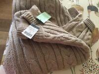 Men's WOOL cable knit XL jumper BNWT