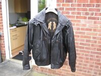 Men's Classic Blouson Style Leather Jacket