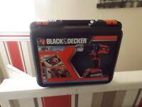 black & deckaer 18v cordless hammer drill