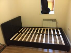Small Double bed frame- Black