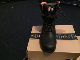 V12 steel-toe work boots