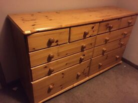 Chest of draws and two side cabinets