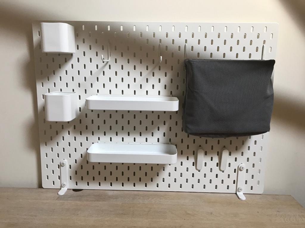 Ikea Freestanding Desk Tidy Pin Board Peg Board In