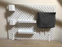 IKEA freestanding desk tidy pin board / peg board