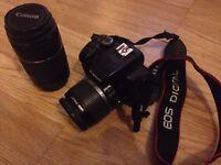 Canon 1000d + lens