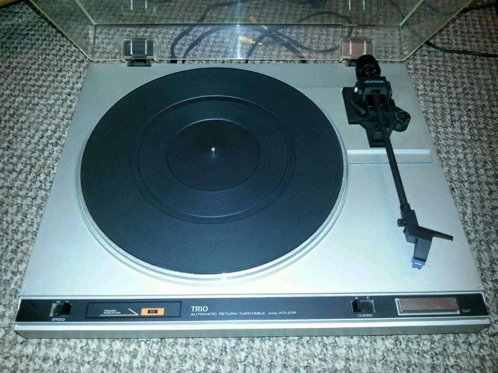 Trio kenwood kd21r turntable record player vinyl