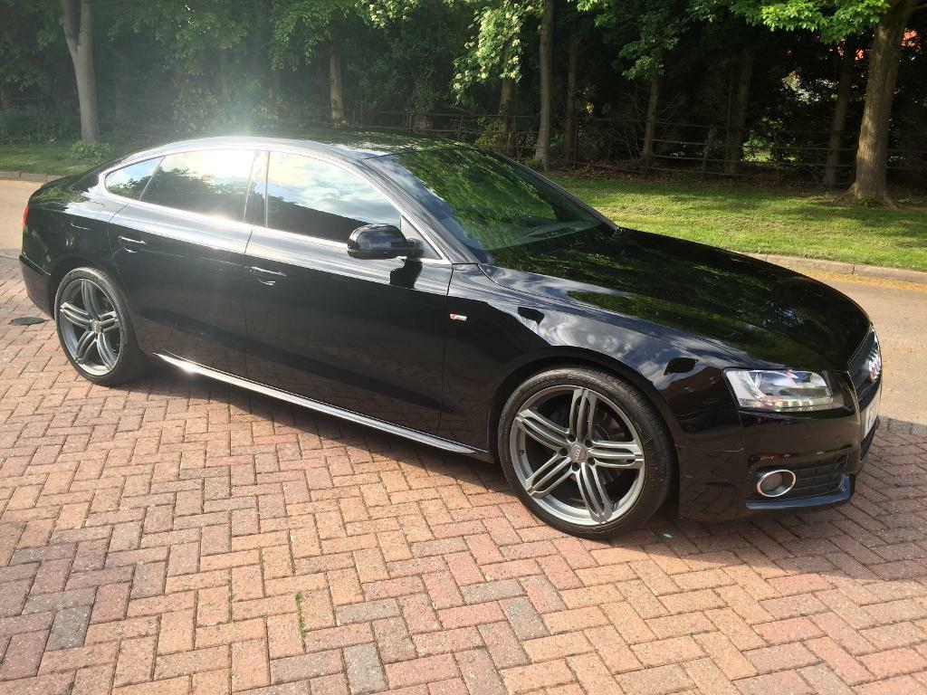 black 2010 audi a5 s line sportback hatchback 2 0t tfsi petrol xenon led lights in exhall. Black Bedroom Furniture Sets. Home Design Ideas