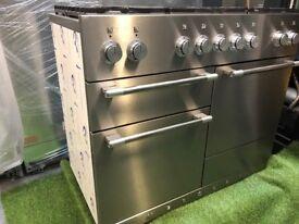 Brand New Mercury Range cooker Rangemaster Oven Stainless steel and chrome VAT