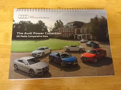 2011 Audi Power Collection Comparative Data Brochure inc RS 5, R8 Spyder, S5, TT