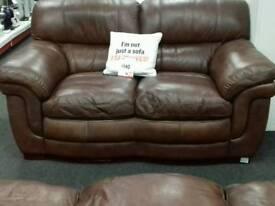 Nice brown leather sofa