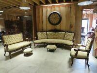 Ornate Renaissance Style 5+2+1 Carved Eagle Suite