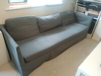 Ikea 3 seater grey sofa in good condition