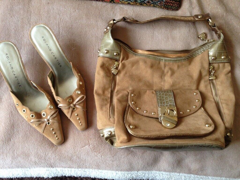 b4b10874918107 Vintage Cartier Shoes Size 6.5 and Kathy Van Zeeland Bag - collect  Happisburgh
