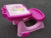 Pink Desk and doll pram