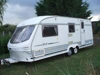 carvantouirng carvan luna 1997 one owner 4berth end washroo,spotless thoughout