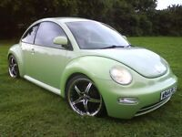 "@@ STUNNING CUSTOM BUG VW BEETLE,1 YEAR MOT,LADY OWNED,19""ALLOYS,LOWERED,TINTS,SPOILER,SHOW CAR@@"