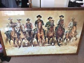 Magnificent seven large framed print