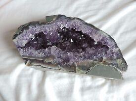 Amethyst geode purple stone crystal