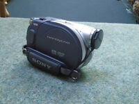 Sony video handycam; d.