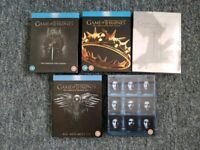 Game of Thrones series 1 to 5 on bluray