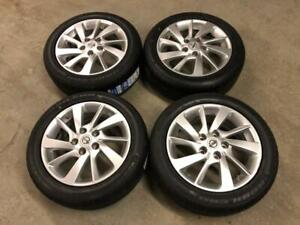 NISSAN SENTRA FACTORY ALLOY WHEELS TPMS W/ NEW ALL SEASONS TIRES 5x114.3