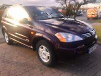 SSANGYONG KYRON DIESEL 4x4 74000 miles , AUTOMATIC CAN DELIVER ANYWHERE AT COST