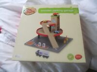 Wooden car garage - new in box