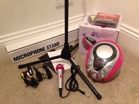 Karaoke System with Microphone Stand & CDs