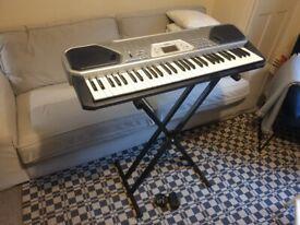 Casio CTK-491 Keyboard 61 key with power supply 100 Tones Song Bank Rhythms plus stad