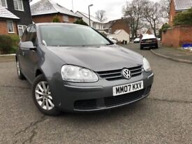 2007 Volkswagen Golf 1.6 automatic FSI Match LOW MILES 68K,TOP OF THE RANGE SPEC-FUL SERVICE HISTORY