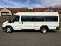 Ford transit 2005 17 seat minibus big bhp 125 and lx pack ex council well serviced presentable bus