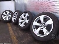 BMW 525 E60 17 inch SET OF 4x WHEELS WITH TYRES 225/50 R17 Refe. T17