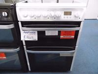 NEW GRADED WHITE 60 WIDE HOTPOINT FREESTANDING COOKER REF: 31058