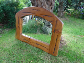 Chunky Solid Pine Framed Mirror