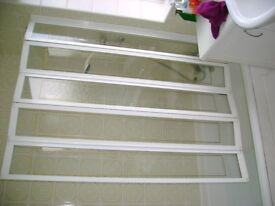 Folding glazed upvc over-bath shower screen