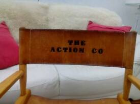 THE ACTION CO LEATHER DIRECTORS CHAIR