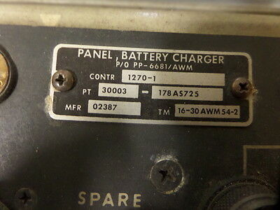 AIRCRAFT AVIATION TEST EQUIPMENT BATTERY CHARGER PP-6681/AWM