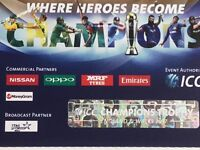 ICC Final - India-Pak 2 Silver tickets - New Peter May Stand - Row 21