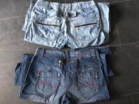 2 Pair Of Boyfriend Jeans size 14