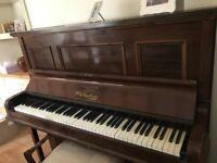 Upright Mahogany W.H Russell & Son Piano