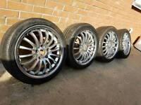 "18"" AUDI SEAT SKODA VW MK5 MK6 GOLF PASSAT ALLOYS"