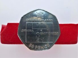 2011 - Explanation of the Offside Rule in Football - London 2012 Logo - 50 Pence Coin