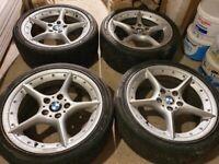 BMW Z4 18'' 108 OEM star BBS split rim alloy wheels